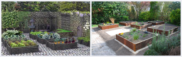 Un jardin tout carré!